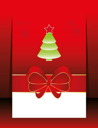 Abstract christmas holiday red greeting card Vector