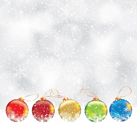 golden  gleam: Abstract winter Christmas background with ball