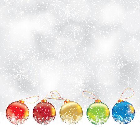 Résumé d'hiver de Noël arrière-plan avec boule Illustration