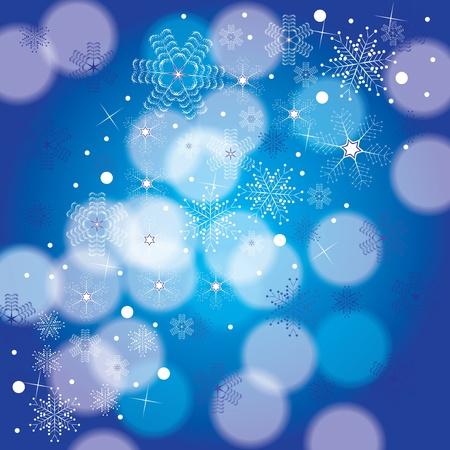 Résumé fond bleu blanc d'hiver Illustration