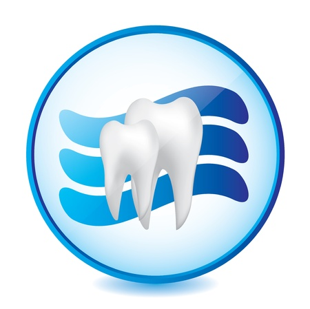Abstract medical blue dental sign Vector