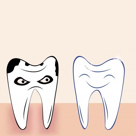 toothache: Abstract teeth cartoon dental background
