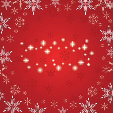 Abstract red white winter background