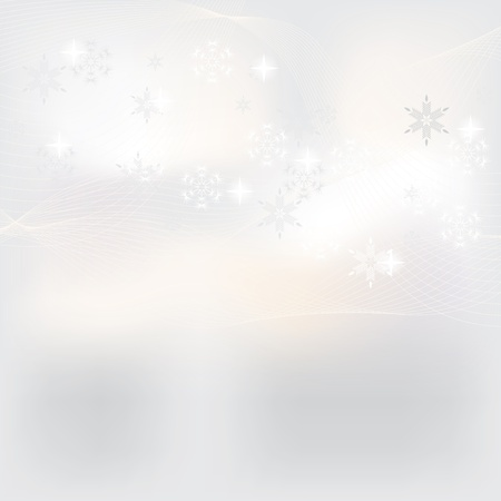Abstract white winter background Stock Vector - 15433329