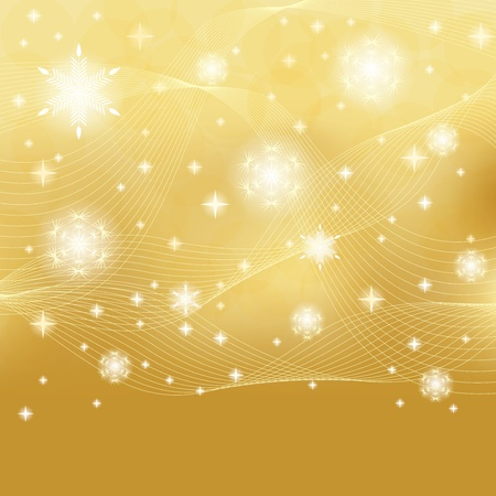 Abstract golden winter background Stock Vector - 15476811
