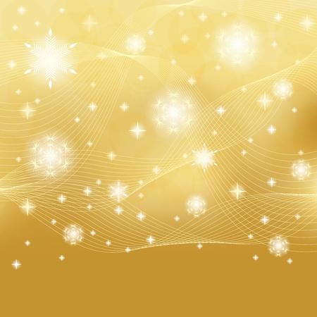 Abstract golden winter background Stock Vector - 15476811