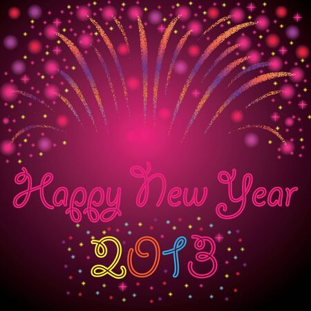 New Year background abstract with fireworks Vector