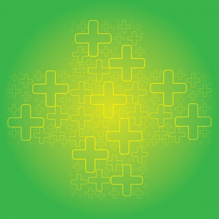 Abstract green cross medical background Stock Vector - 15564067