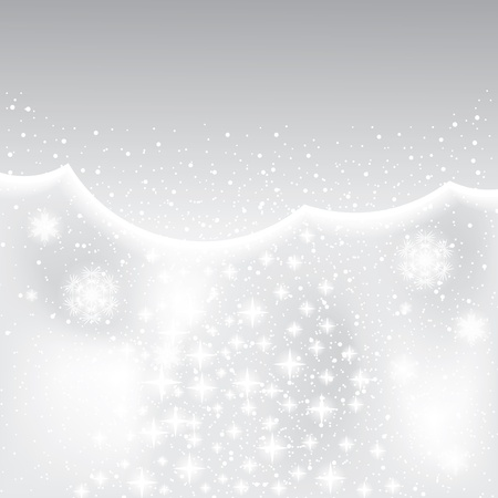 Abstract silver winter background with stars Vector