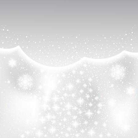 Résumé de fond l'hiver en argent avec étoile