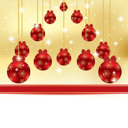 Abstract winter Christmas background with ball