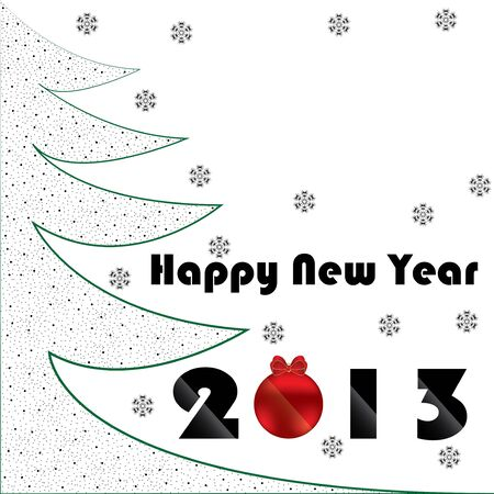 Christmas and New Year green background abstract Vector