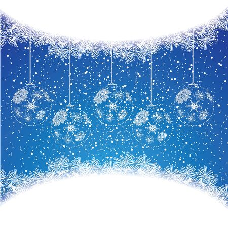 Abstract winter Christmas background with ball Stock Vector - 15790265