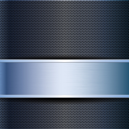 metal grid: Abstract business blue metal grid background