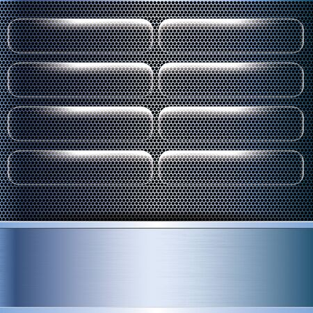 Abstract business blue metal grid background Stock Vector - 16002759