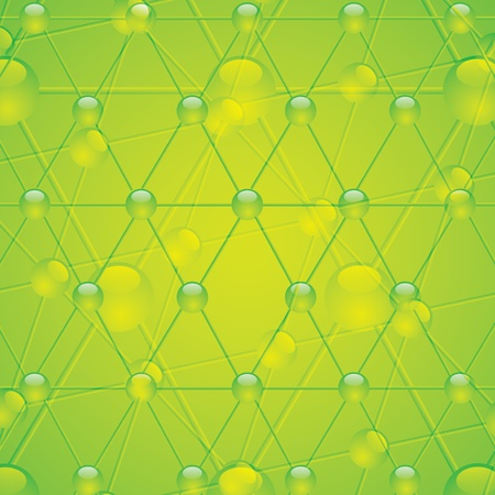 Molecule illustration green background Stock Vector - 16002735
