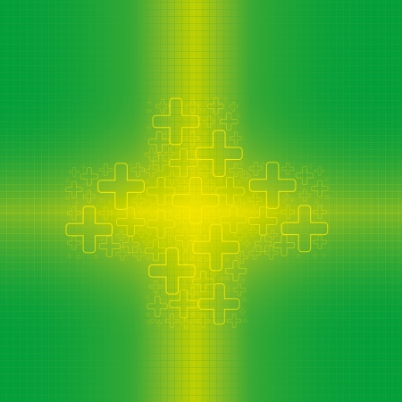 Abstract green cross medical background Stock Vector - 16002762