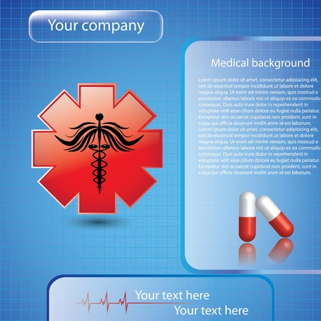 Abstract medical background Stock Vector - 16113683