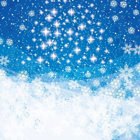 Abstract blue winter Christmas background  Stock Vector - 16113728
