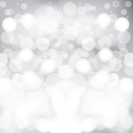 blurred lights: Abstract winter Christmas background with ball