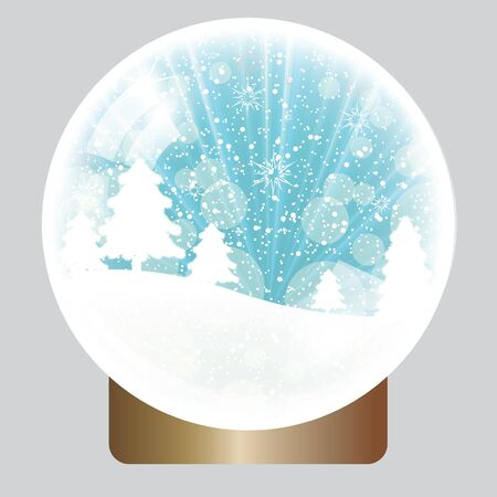 Christmas background snow globe Vector