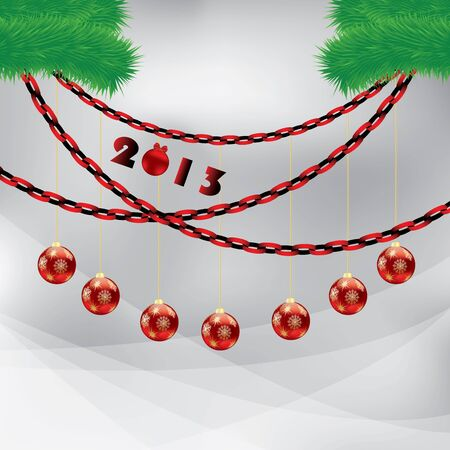 Abstract winter Christmas background with ball Stock Vector - 16317327