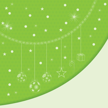 Abstract green winter Christmas background  Vector