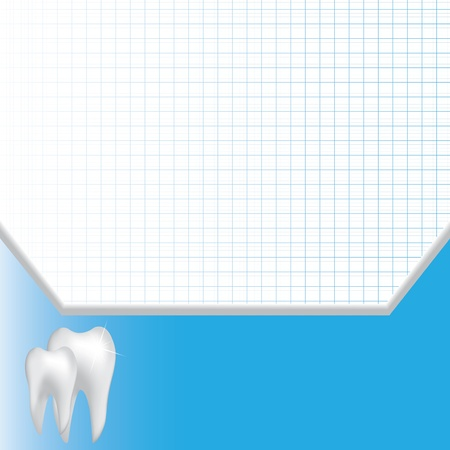 cavities: Abstract medical dental blue background  Illustration