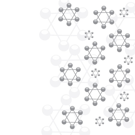 Molecule white silver background Stock Vector - 16540897