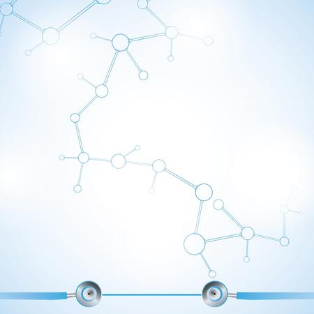 biologia molecular: Mol�cula azul abstracto de fondo blanco