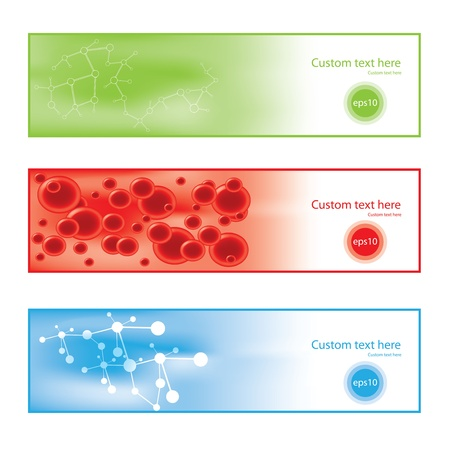Molecule colorful background banners Stock Vector - 16656184