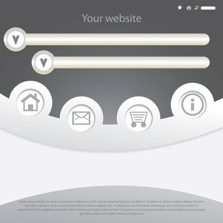 transparent silver website design template Vector