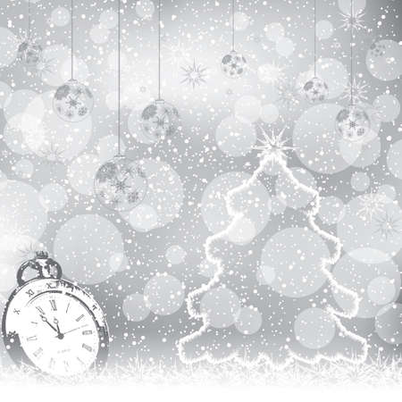 Abstract winter Christmas New Year background  Vector