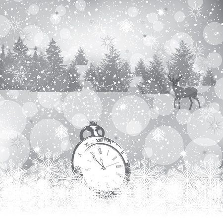 snow flakes: Abstract winter Christmas New Year background