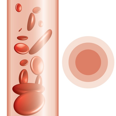 Red blood cells abstract background