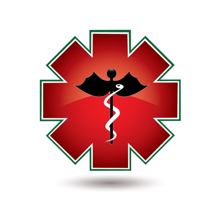 Red medical symbol isolated vector white background Stock Vector - 16855974
