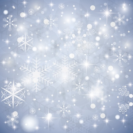 gala event: Abstract blue winter Christmas background