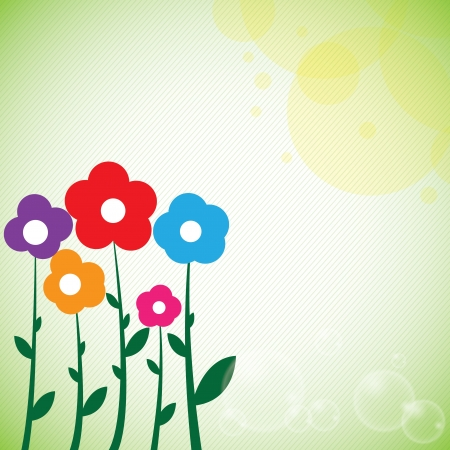Beautiful colorful flowers spring background  Stock Vector - 16855990