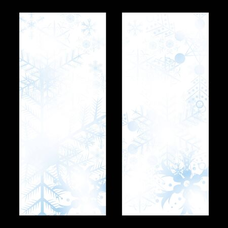 Abstract blue winter Christmas background Stock Vector - 16856004