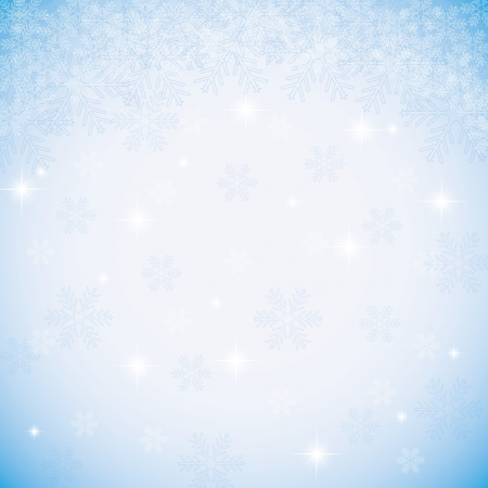 Abstract blue winter Christmas background Stock Vector - 16855992