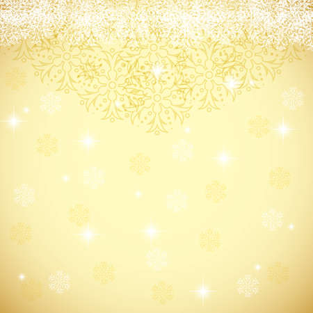 gleam: Abstract gold winter Christmas background Illustration