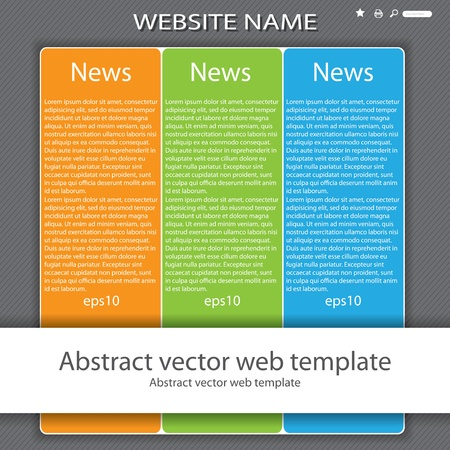 Modern colorful 3 color website template form Stock Vector - 16917060