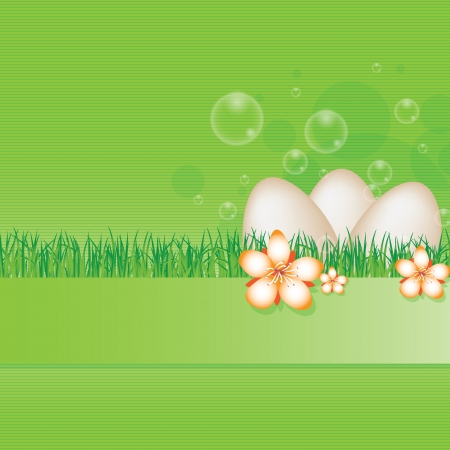Spring easter green stripe flower abstract background Vector