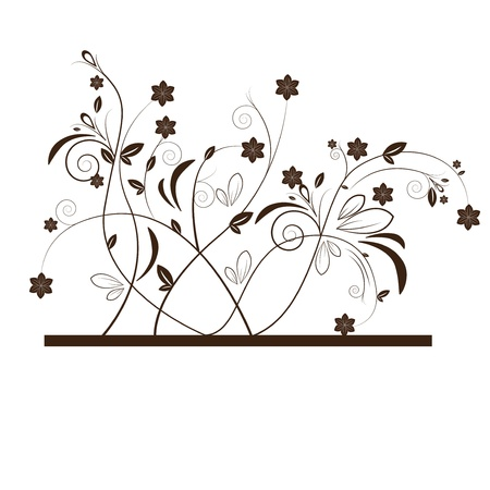 Abstract beautiful flowers creative design dark brown Stock Vector - 17225763