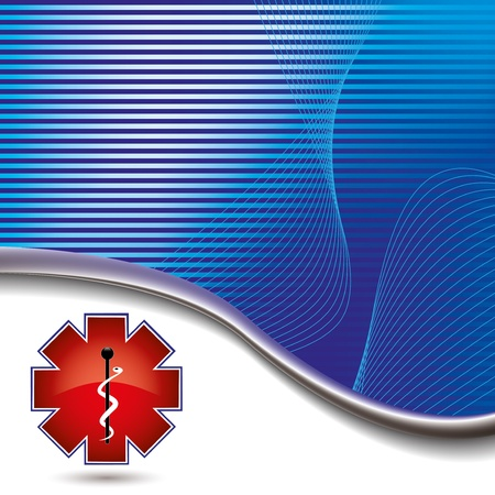 hospital sign: Abstract medical background stripped red medical sign Illustration