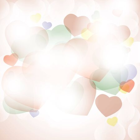 Shiny hearts colorful romantic background bokeh light Stock Vector - 17470488