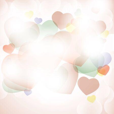 Shiny hearts colorful romantic background bokeh light Stock Vector - 17470488