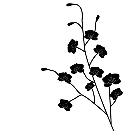 Abstract beautiful flowers creative design black Illustration