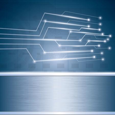 R�sum� vecteur de fond futuriste bleu de circuit