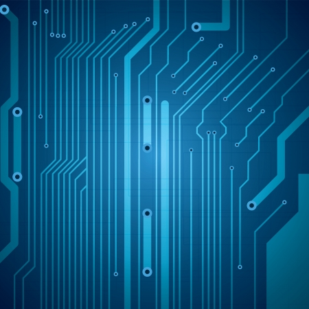 Abstract vector futuristic circuit blue background